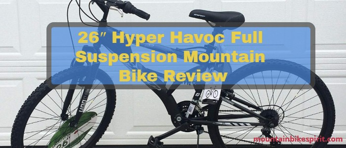 26″ Hyper Havoc Full Suspension Mountain Bike